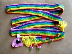 Adventure Time Lady Rainicorn Handmade Crochet Scarf - omg i must make this