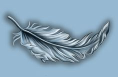 white tattoo feather.  There it is, this is what I want
