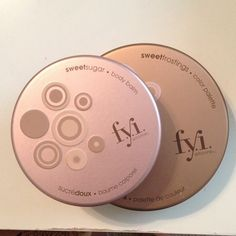 F.y.i body balm and color palette bundle! Body balm includes an applicator to apply to body. Color palette includes toffee and sprinkles lip color, 1 lip plumper, 1 liquid eyeliner in cinnamon, eyeshadows in angle cake and gingerbread. Never used and vegan F.y.i Makeup