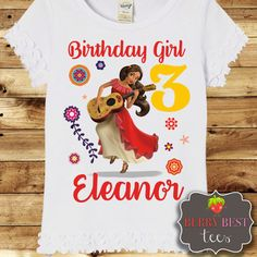 Elena of Avalor Personalized Birthday Shirt by BerryBestTees
