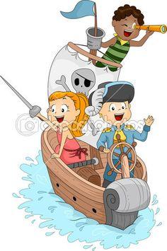 пиратский корабль — Стоковое изображение #7508312