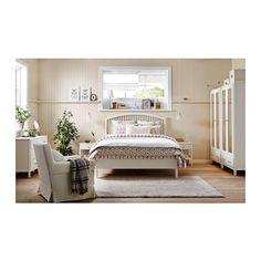 TYSSEDAL Struttura letto, bianco, Luröy 160x200 cm Luröy
