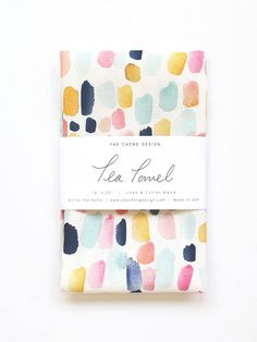 Our watercolor tea towels help add a spot of joyful color to any kitchen! Textiles, Textile Prints, Textile Design, Towel Display, Watercolor Branding, Fabric Painting, Graphic, Colorful Rugs, Diy Gifts