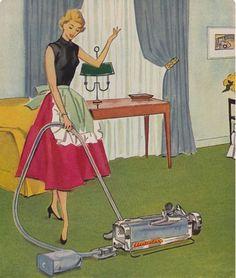 Wie du in den 50er Jahren die perfekte Hausfrau warst: in der Küche.