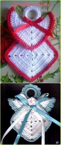 Transcendent Crochet a Solid Granny Square Ideas. Inconceivable Crochet a Solid Granny Square Ideas. Christmas Crochet Patterns, Crochet Christmas Ornaments, Holiday Crochet, Crochet Gifts, Christmas Angels, Diy Christmas, Crochet Angel Pattern, Crochet Angels, Beau Crochet