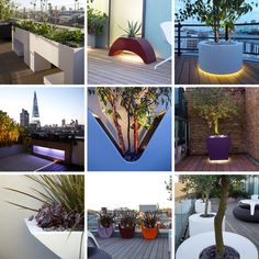 #powder #coated #planters collection close-up from my #roof #terraces in #London