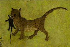 detail of the cat from The Garden of Earthly Delights by Hieronymus Bosch