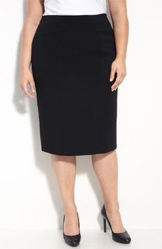 $158, Louben Pencil Skirt Black 24w. Sold by Nordstrom. Click for more info: https://lookastic.com/women/shop_items/97296/redirect