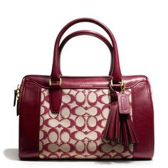 The Legacy Haley Satchel In Needlepoint Signature Fabric from Coach