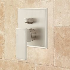Buy the Signature Hardware 421671 Brushed Nickel Direct. Shop for the Signature Hardware 421671 Brushed Nickel Ryle Mixing Diverter Valve and save. Wall Faucet, Tub Faucet, Bathroom Faucets, Bathrooms, Shower Holder, Shower Set, Rain Shower, Shower Diverter Valve, Steam Showers Bathroom