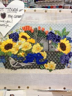 steph's stitching melissa shirley needlepoint flowers basket