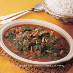 Recipe - Saudi Spinach and Meat Stew - Heat oil in a large saucepan then cook onions for 5. 6 minutes or until golden.