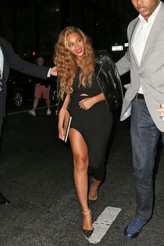 Splurge: Beyonce's New York City Leather Jacket and Self Portrait Cut Out Racerback Dress
