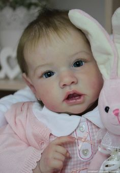 incredibly talented, those eyes, those lips, so sweet. Hard to believe this is a doll. Bravo! Saskia - Reborn Doll  by Anastasia Gangan