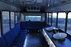 Interior of The Bandwagon Party Bus  713.829.0991
