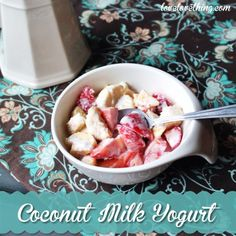 Learn how to make homemade coconut milk yogurt - it's so simple!