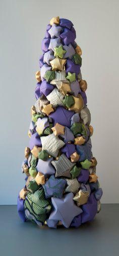 Árvore de Natal com estrelas de Origami...