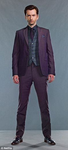 The Purple Man: David Tennant as Dr Killgrave in Marvel's Jessica Jones. 'In the original comic book his entire body was a vivid shade of aubergine'