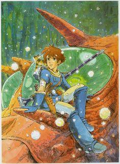 Nausicaä of the Valley of the Wind art by Hayao Miyazaki