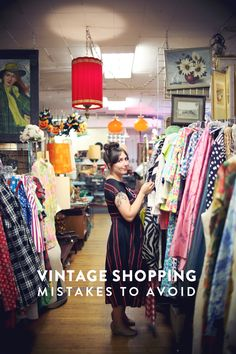 To save you the heartache of falling for the wrong dress, here are 10 vintage shopping mistakes to avoid so you don't have to learn the hard way. Vintage Love, Vintage Shops, Retro Vintage, Vintage Travel, Vintage Style, Vintage Outfits, Vintage Fashion, Vintage Clothing, Vintage Dress