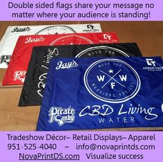 Flags, flags and more flags! #sublimation #Design #pantone #printing #apparel #exhibition #fabric #branding #NPDS