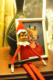 Elf on the Shelf Ideas...Janel Lily would think this was tooooo funny