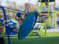 Miracle Recreation built the specially designed playground for the Long brothers in White House, Tenn.