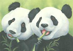 Lizzie Hall. panda paintings canvas prints