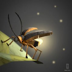 Origami Insect (Paper Fox)