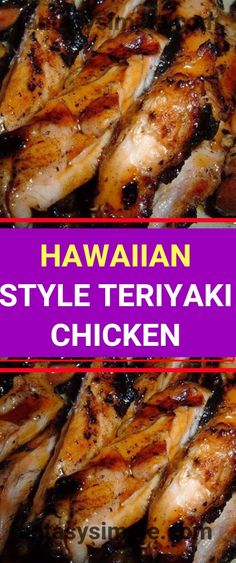 Ingedients : 3 pounds chicken thigh ( boneless, skinless ) 1 cup soy sauce 1 cup water 1 cup sugar 5 clove(s) garlic ( cloves, crushed ) Turkey Dishes, Turkey Recipes, Chicken Recipes, Dinner Recipes, Drink Recipes, Dinner Ideas, Asian Recipes, Healthy Recipes, Hawaiian Recipes