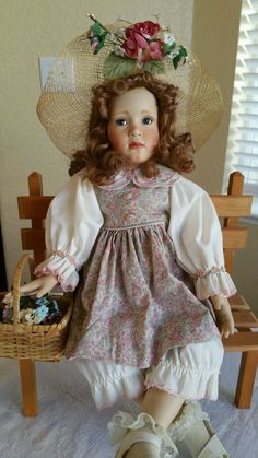 "Georgetown Porcelain doll "" Caroline Sweetheart of Summer"" by Pamela Phillips"