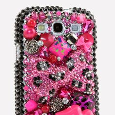 """Style # 437 This Bling case can be handcrafted for Samsung Galaxy S3, S4, Note 2. The current price is $79.95 (Enter discount code: """"facebook102"""" for an additional 10% off during checkout)"""