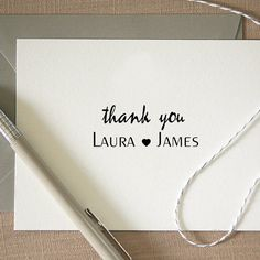 remerciement mariage  Personalized Custom Name Returned Address by Cre8tiveRubberStamp, $7.50