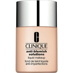 Clinique Anti-Blemish Solutions Liquid Make-Up found on Polyvore featuring beauty products, makeup, face makeup, clinique cosmetics, clinique, clinique makeup and oil free makeup