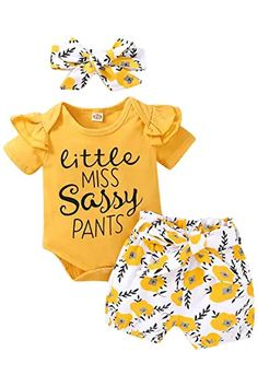 Amazon.com : cute spring outfits Baby Girl Fall Outfits, Baby Girl Pants, Toddler Girl Outfits, Baby Girl Dresses, Toddler Fashion, Baby Girls, Kids Girls, Baby Baby, Kids Fashion
