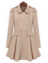 Beige Pleated Coat