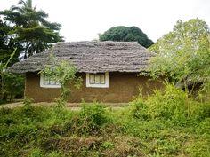 På södra Zanzibar kan du se många fina lerhus