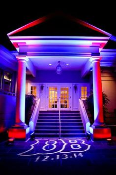 Lighting up the entrance to your celebration sets the tone for a fabulous event...REAL BAR MITZVAH...Boston Strong in Bethesda - Party Favorites - Event Planning Resource