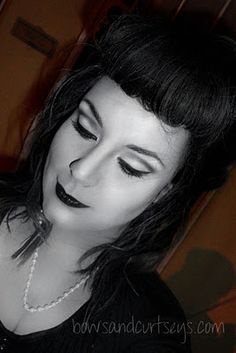 """"""".Bows and Curtseys...Mad About Makeup."""": Halloween 2011 - 50's Grayscale"""