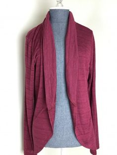 love the color and the drape - my office AC means I need layers in the summer!