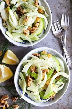 Fennel and Apple Salad - It's crunchy (SO CRUNCHY!) and satisfying. And equally appealing on a hot day as it is in the dead of winter.