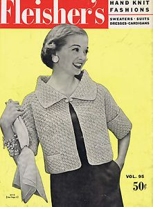 VINTAGE KNITTING PATTERNS 1950s SUITS CARDIGAN SWEATERS DRESSES SKIRTS FLEISHERS