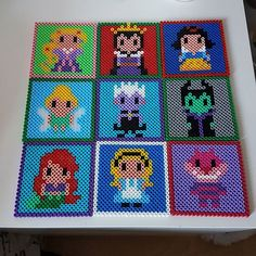 Disney coasters hama beads by hana_kitty                                                                                                                                                                                 More
