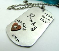 Personalized Necklace  Hand Stamped Jewelry by FiredUpLadiesHammer, $32.00