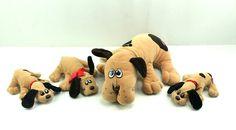 "1985 Pound Puppies 16"" Mom Beagle & Newborns Vintage Plush Toy Lot 1986 Tonka #Tonka"
