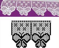 Resultado de imagen para cenefa crochet patron