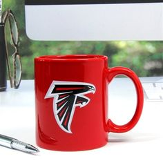 Get cozy for the holidays in an Atlanta Falcons ugly sweater, some simple team earrings and have some yummy cocoa in your Atlanta Falcons mug. Falcons Football, Best Football Team, Falcons Rise Up, National Bosses Day, Black Feathers, Atlanta Falcons, Fan Gear, Coffee Cups, Tea Cups