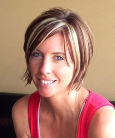 Don't be afraid to be creative and fun with your hair!! Highlights and low lights are sassy and fun! Jen Droske