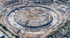Apple & Cupertino share updated Campus 2 aerial shot showing progress on building construction - Apple Campus 2, Apple Headquarters, Aerial Drone, Apple New, Sustainable Design, Weekend Is Over, City Photo, Construction