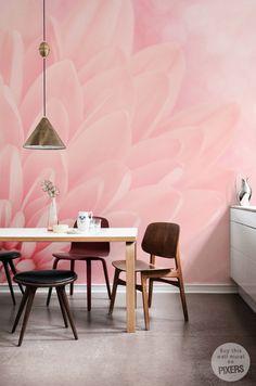 "Wall Mural ""Pink Chrysanthemum"" #pastel #flower #wallmural"